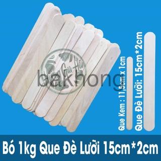 Que Đè Lưỡi Gỗ bó 1kg (1 cân~300 que) làm đồ handmade, đồ giáo dục Montessori (15cmx2cm) bakhong