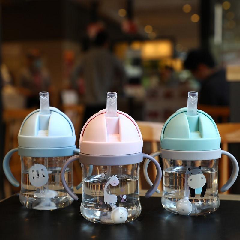 [Mã 267FMCGSALE giảm 8% đơn 500K] Bình tập uống nước cho bé, bình nước cho bé chống sặc cao cấp