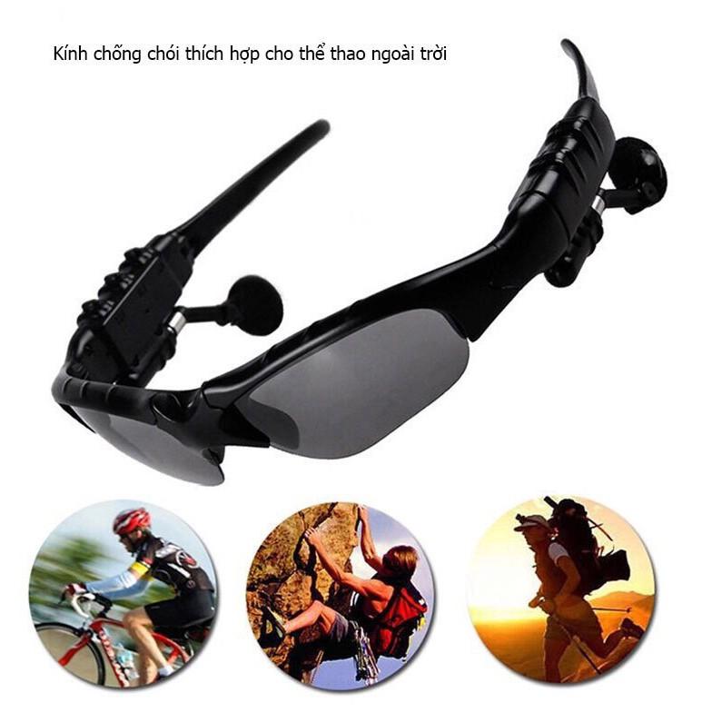 Mắt Kính Thông Minh Kết Hợp Tai Nghe Bluetooth