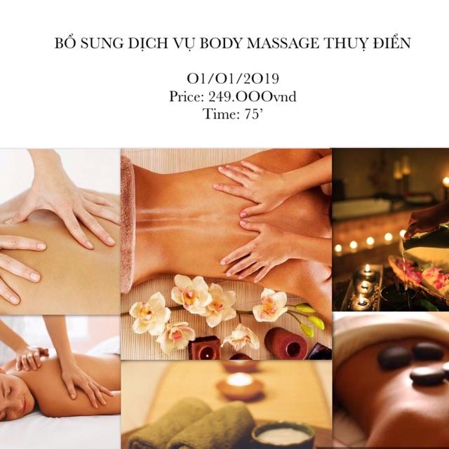 [VSDAY88 hoàn 50% xu đơn 10k] HCM - VOUCHER 75' Massage body Thuỵ Điển kết hợp Thái land và Đá nóng