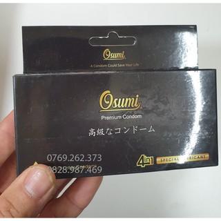 Hộp 12 chiếc bao Osumi CS.07 nhãn đen, gân, gai, kéo dài thời gian thương hiệu Nhật thumbnail