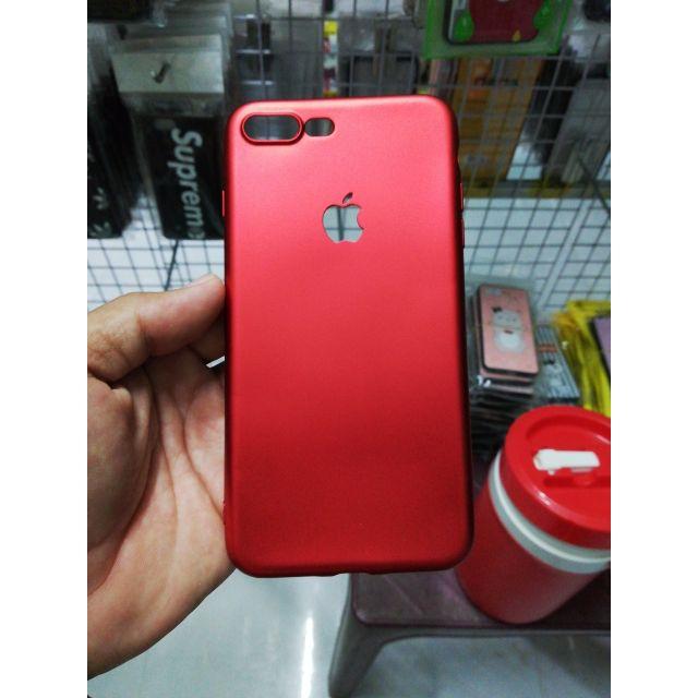 Ốp dẻo đỏ nhung hở táo iPhone 7plus