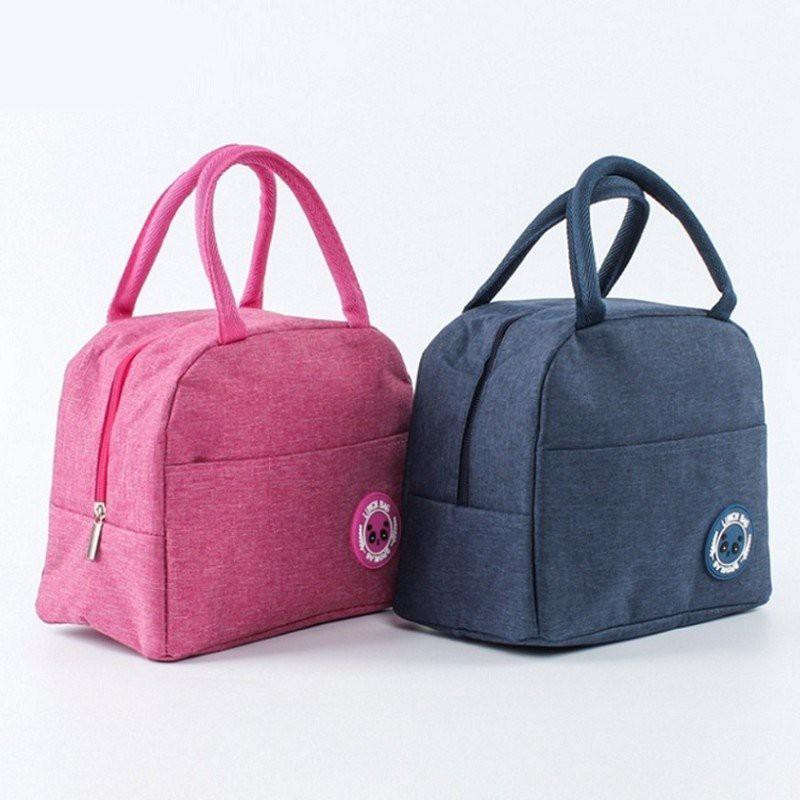 Túi giữ nhiệt đựng hộp cơm văn phòng, đồ ăn có khóa kéo, chống thấm nước Lunch Bag Xhome