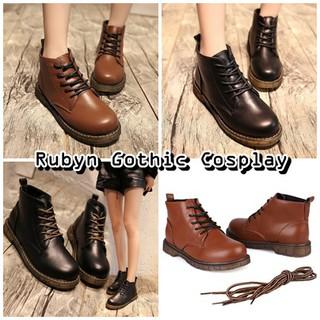 🍁 Giày Boots da cổ cao Vintage (Tài khoản Shopee duy nhất: gothic.cosplay )