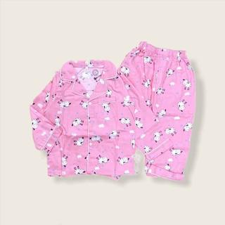 Bộ Ngủ Pijama Dài Tay Cho Bé Cotton In Hình Thú [PJM02] - 23Kg - Babi mama