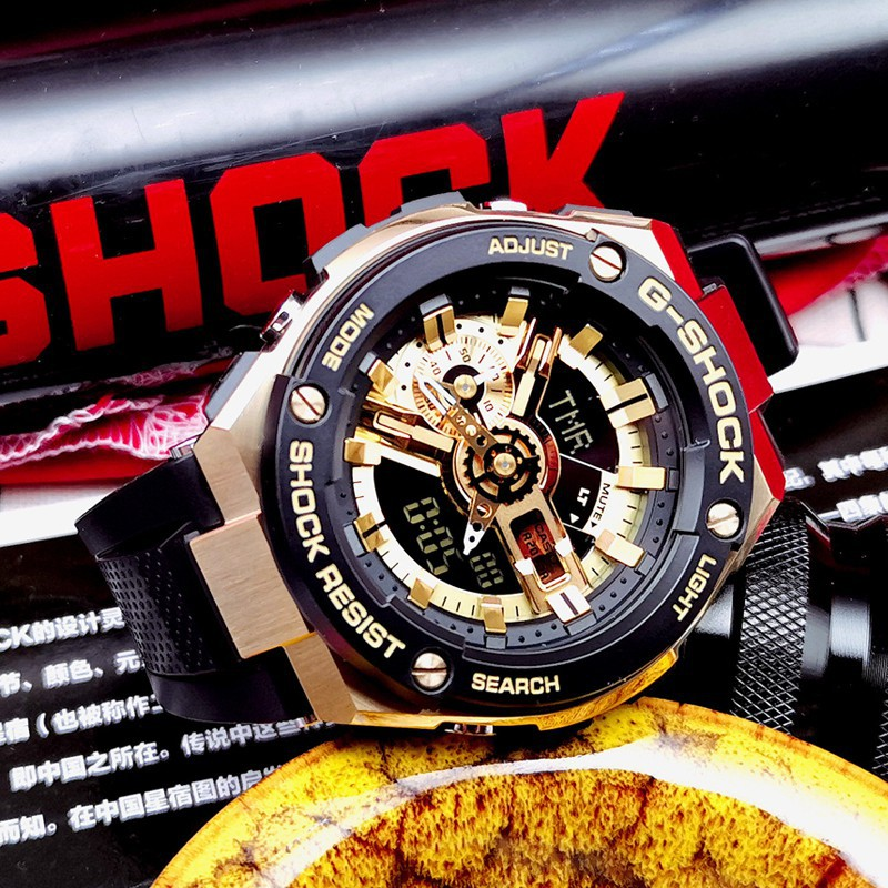 Original Casio G-SHOCK GST-400G-1A9DR สีทอง และ GST410-1A