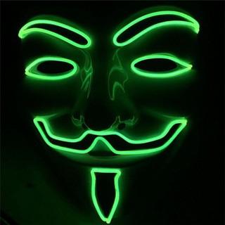 MẶT NẠ HÓA TRANG HACKER anonymous đèn led 7 màu cao cấp-t37