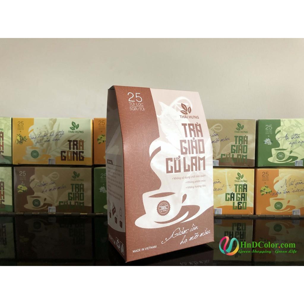 [CHÍNH HÃNG] Trà Giảo Cổ Lam Thái Hưng (trà thảo dược, 100% tự nhiên, dạng túi) - hạ mỡ máu, giảm cân