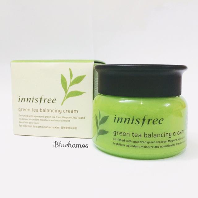 Innisfree Green Tea Balancing Cream 50ml - Kem dưỡng trà xanh da hỗn hợp