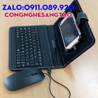 bao da bàn phím cao cấp kèm chuột – dùng cho điện thoại android (iphone không dùng được)