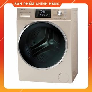 [ VẬN CHUYỂN MIỄN PHÍ KHU VỰC HÀ NỘI ] Máy giặt Aqua cửa ngang 9.5 kg màu vàng AQD-DD950E.N - [ Bmart247 ]