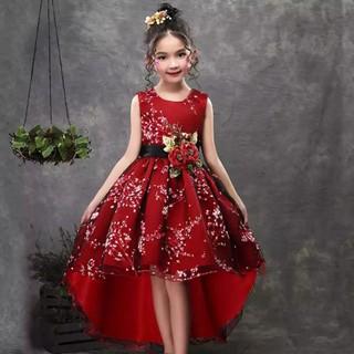 váy đầm công chúa đỏ đuôi tôm giá rẻ từ 8-40 kí ( váy bé gái )