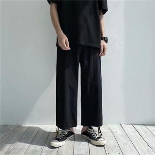 Quần dài vải lanh ống suông kiểu Nhật Bản cá tính cho nam