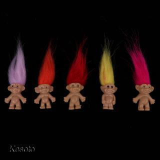Set of 5pcs Troll Lucky Doll Leprocauns Doll Collections Handcrafts Gift