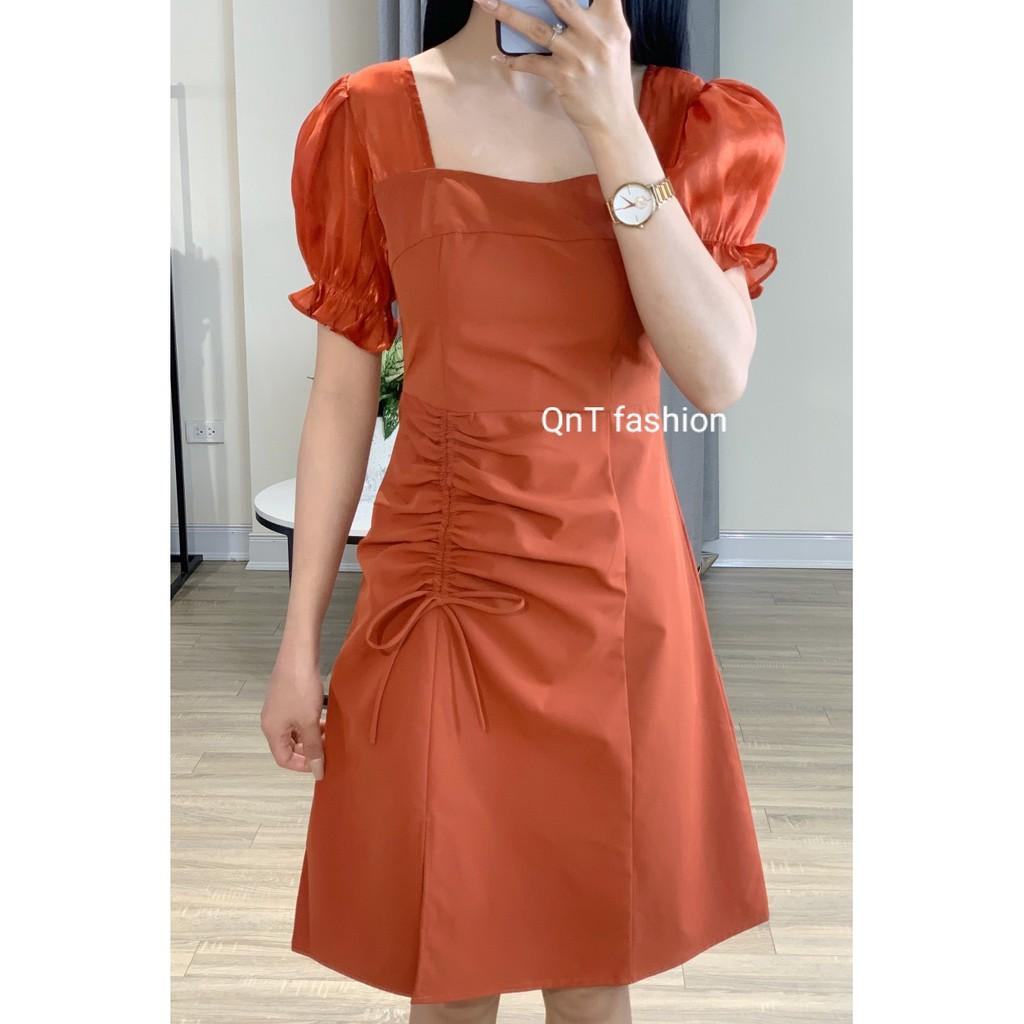Váy Chữ A Rút Dây sườn-Đầm Công Sở Thiết Kế