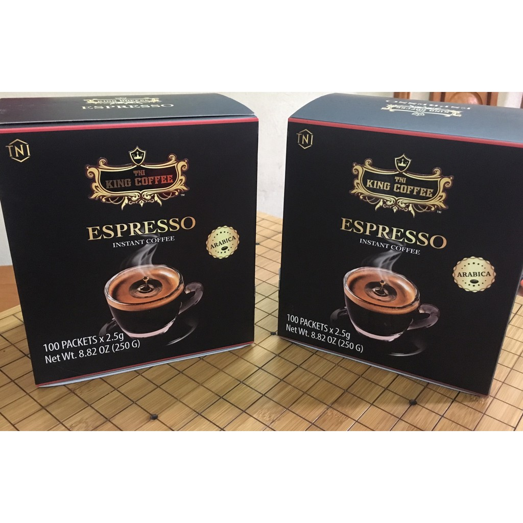 Cà Phê Hoà Tan ESPRESSO - King Coffee Hộp  100 Gói