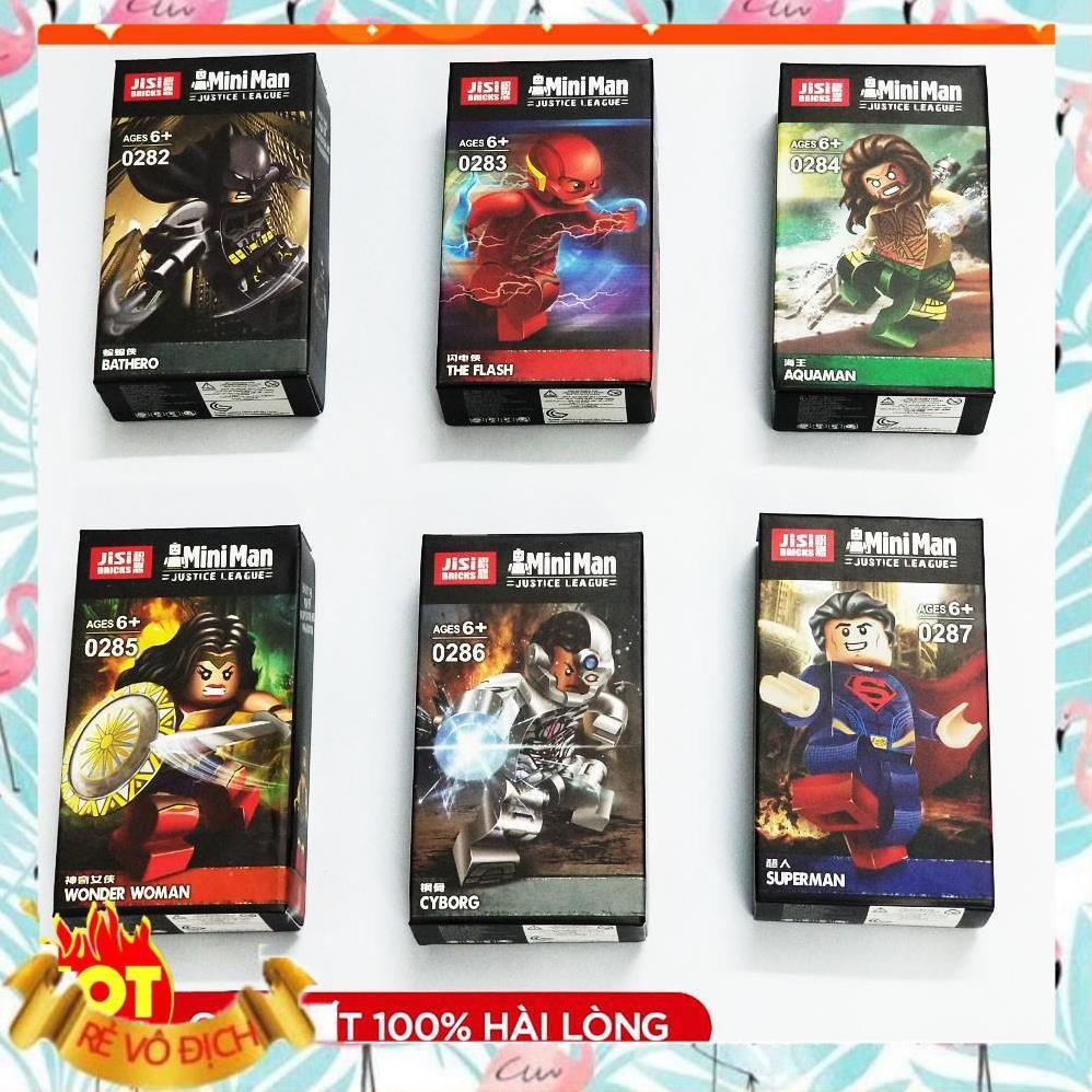 [ĐỒ CHƠI LEGO GIÁ RẺ] ⚡Ảnh-thật⚡ Xếp hình lego 6 Minifigures Lắp Ráp Nhân Vật Siêu Anh Hùng Marvel 0282-0287