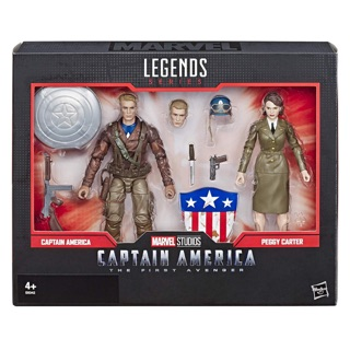Mô hình Marvel Legends Captain America và Peggy Carter