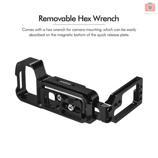 Andoer L-shaped Aluminum Alloy Quick Release Plate L Bracket Plate Quick Release Baseplate with Side Plate for Sony A7III A7MIII A7RIII A9 ILDC cameras