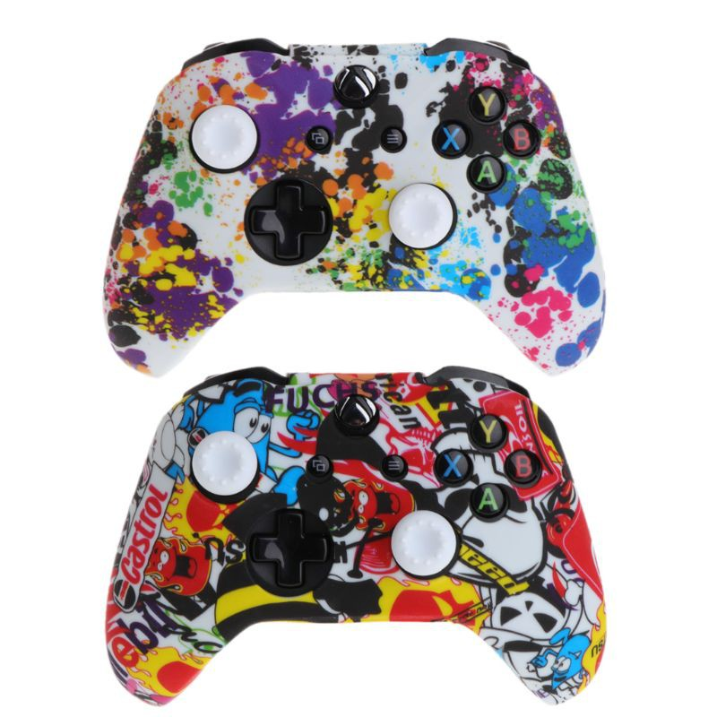 ❤❤Popular Silicone Gamepad Cover + 2 Joystick Caps For XBox One X S Controller