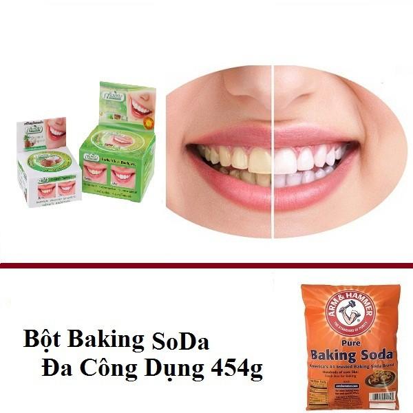 Combo Kem Tẩy Trắng Răng Thái Lan (KTTR và Baking)