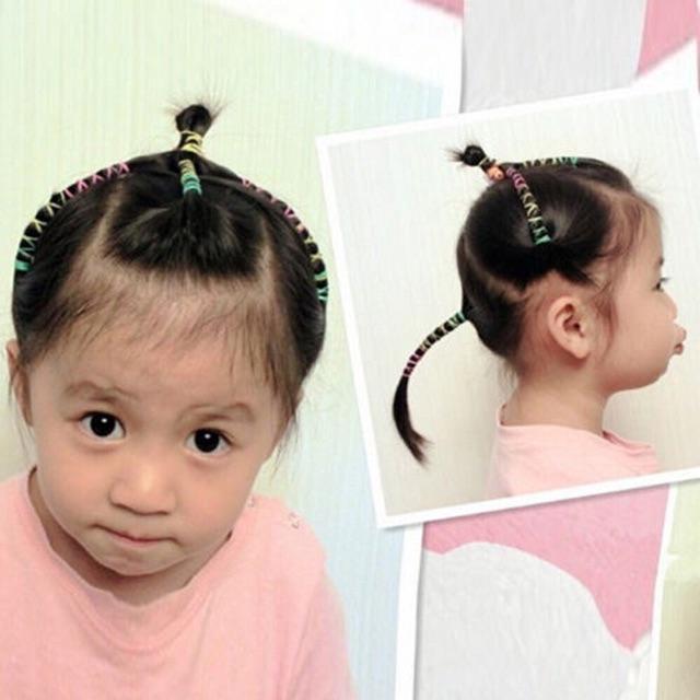 Deal 1K- Sét 50 dây chun buộc tóc nhiều màu, siêu dai