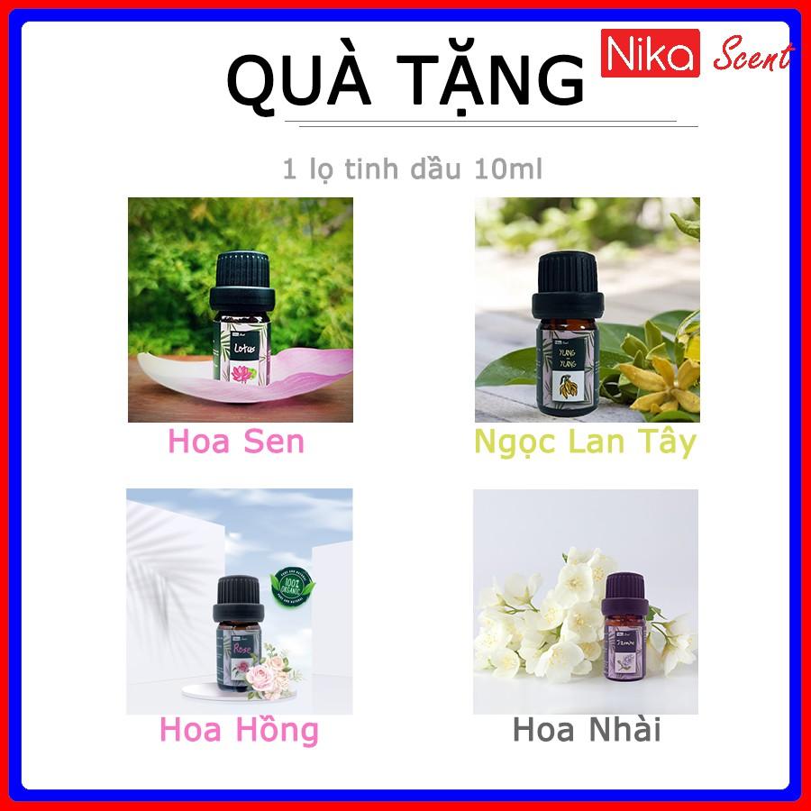 Nikascent Máy xông tinh dầu phòng ngủ công nghệ siêu âm (phun sương Nano, thơm phòng, tạo ẩm)