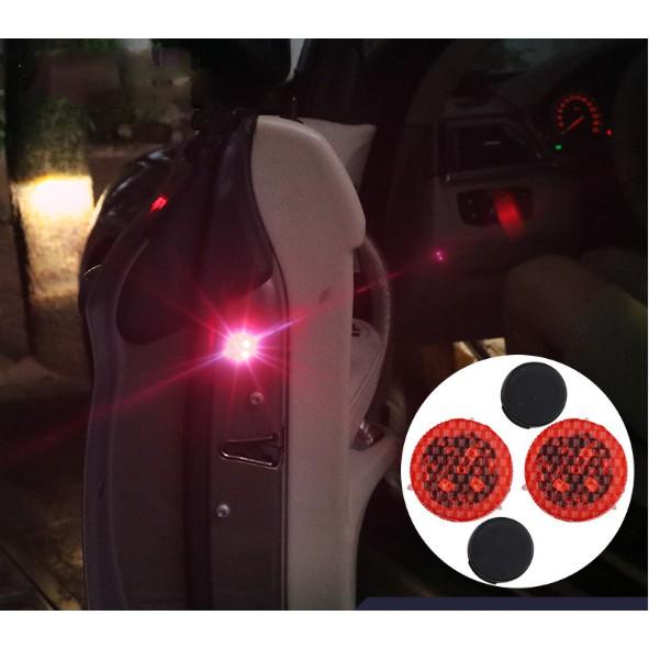 bộ 2 đèn led nhấp nháy cảnh báo mở cửa - loại 3 bóng led