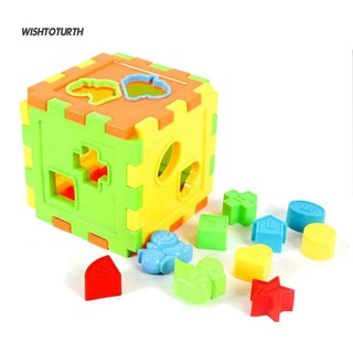 ☼WT Kids Baby Animal Alphabet Abacus Cube Blocks Intellectual Brain Training Toys