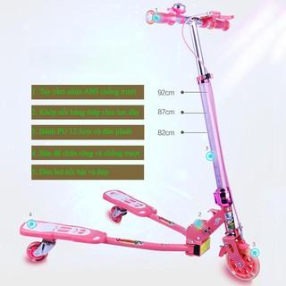 Xe đứng trượt scooter cao cấp kiểu đạp ếch XiaoLiming XLM-904