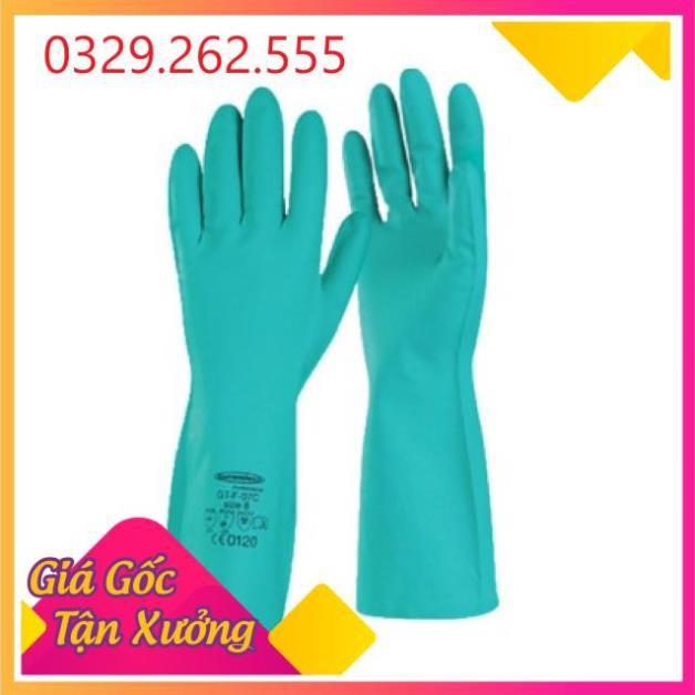 (Sale Khủng)  Găng tay cao su xanh Nitren Malaysia chính hãng loại dầy