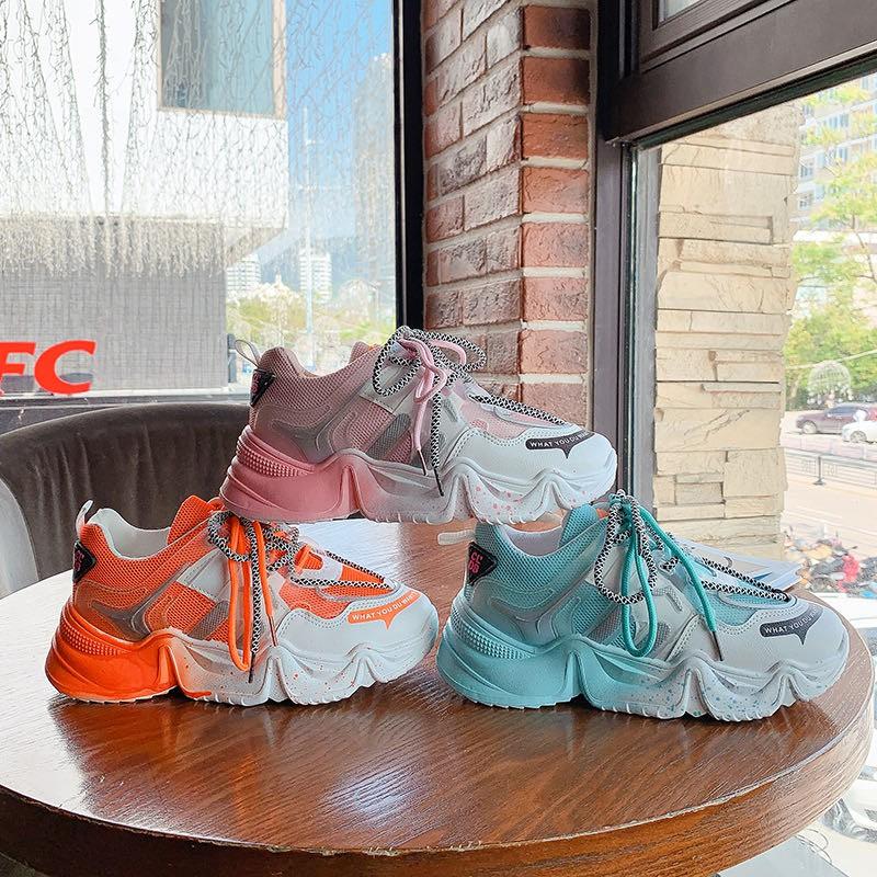 Giày thể thao nữ Bụng Bự Store đế phun sơn độn đế pha màu siêu đẹp mã A1