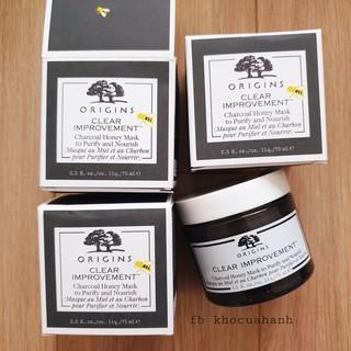 [75ml – bill Mỹ] Mặt nạ thải độc với than tre và mật ong Charcoal Honey Mask to Purify & Nourish Origins