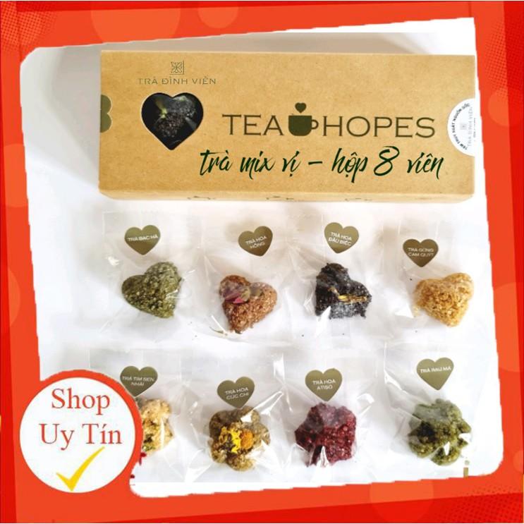 [HÀNG CAO CẤP] Tea Hopes - Trà viên hoa thảo mộc mix 8 vị - 105g