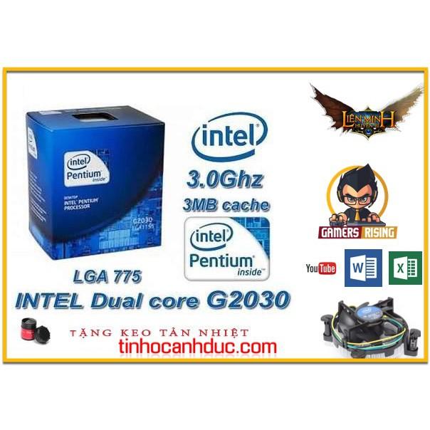 Bộ vi xử lý G2030 3.0G/3M CPU intel G2030 3.0hz socket 1155 chạy H61,H67, B75 bảo hành 36 tháng TẶNG Keo tản nhiệt FAN - 14088909 , 2231477264 , 322_2231477264 , 360000 , Bo-vi-xu-ly-G2030-3.0G-3M-CPU-intel-G2030-3.0hz-socket-1155-chay-H61H67-B75-bao-hanh-36-thang-TANG-Keo-tan-nhiet-FAN-322_2231477264 , shopee.vn , Bộ vi xử lý G2030 3.0G/3M CPU intel G2030 3.0hz socket