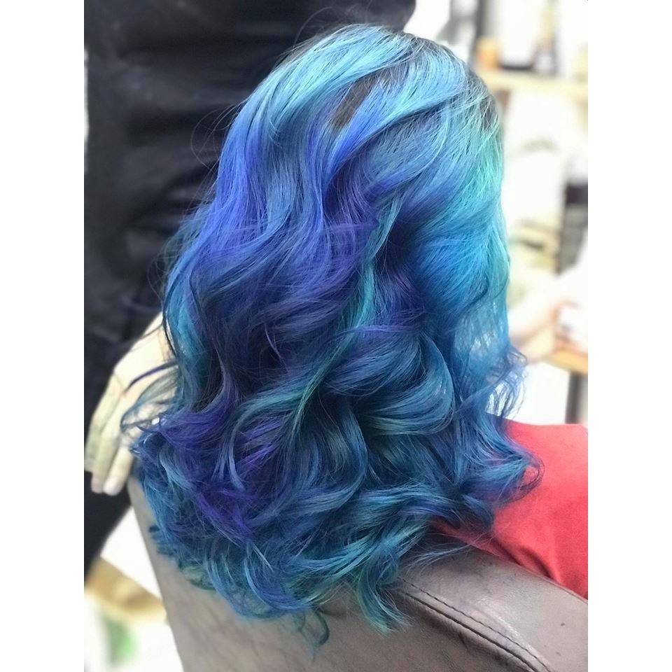 thuốc nhuộm tóc xanh ngọc + tặng oxy trợ dưỡng - Tocdep.HG