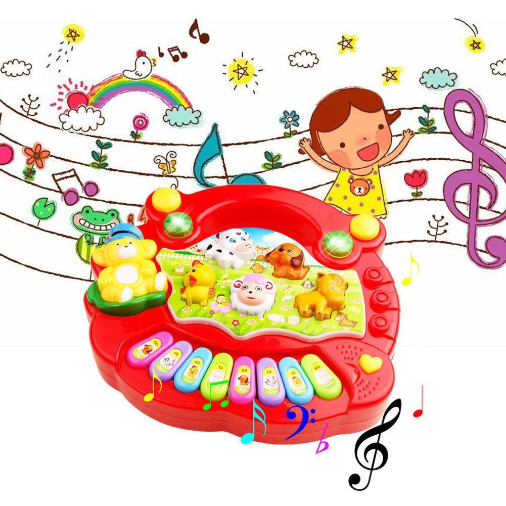 Baby Musical Educational Animal Farm Piano Developmental Music Toy Gift