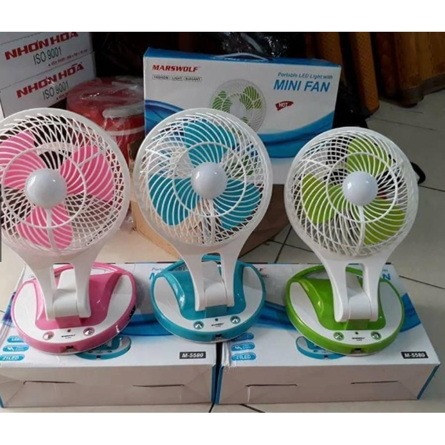 Quạt tích điện Mini Fan 2 trong 1