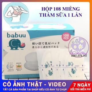 [HÀNG CHUẨN] Hộp 108 miếng lót thấm sữa Baby Babuu Nhật Bản dùng 1 lần tiện lợi cho mẹ thumbnail