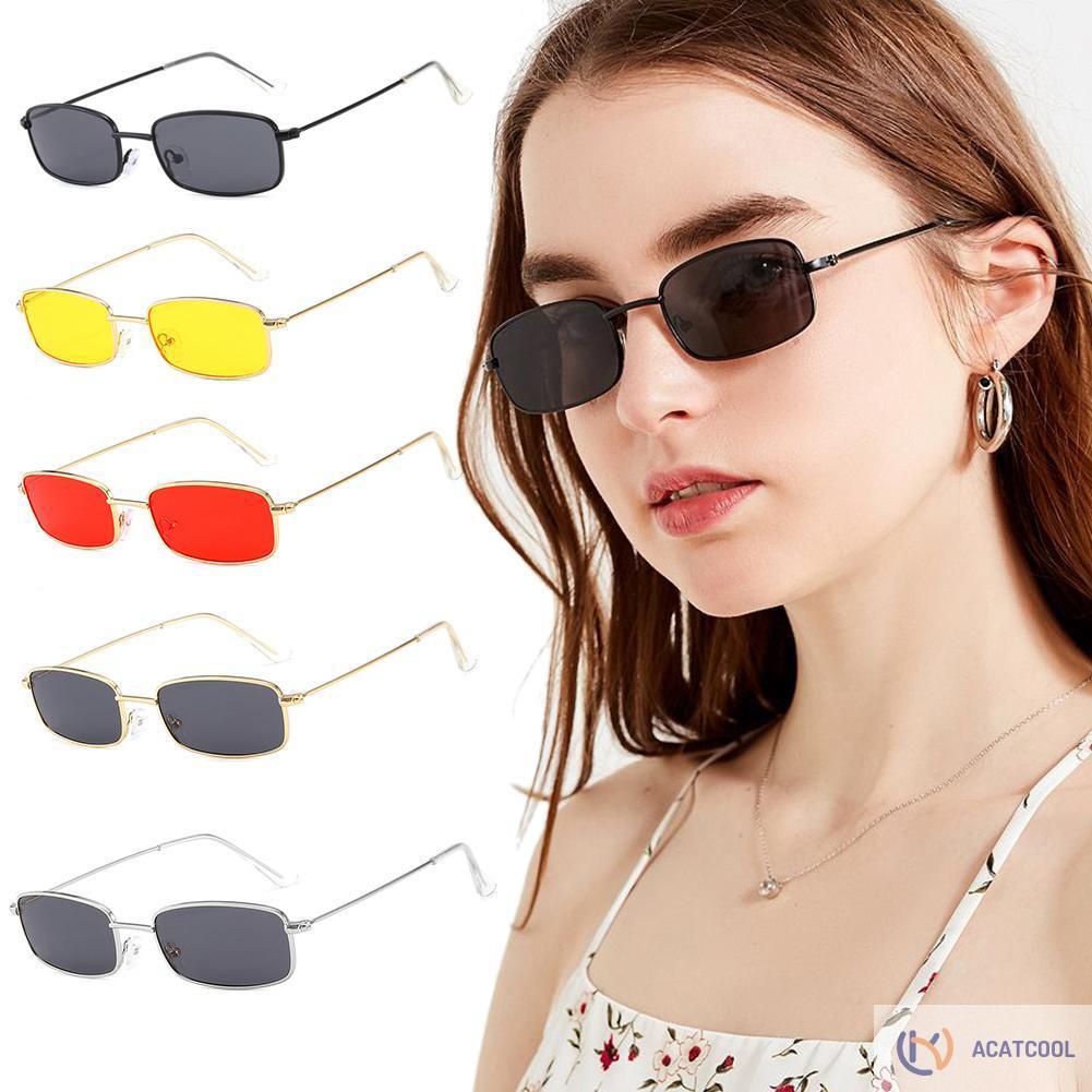 Acatcool Vintage Square Frame Eyewear Outdoor Sunglasses Unisex Shades Sun Glasses