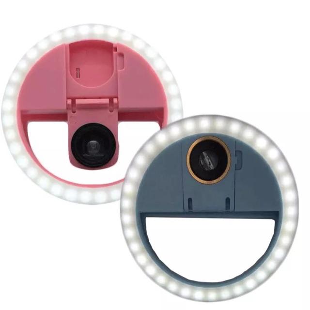 Đèn led kẹp điện thoại chụp ảnh có kính lúp đèn kẹp nối mi