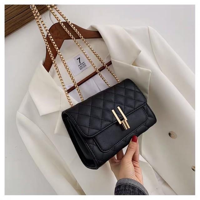 Túi xách nữ, túi đeo cheo khóa hình chữ Y siêu duyên dáng