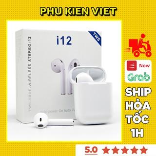 Tai Nghe Bluetooth Không Dây Inpods i12 TWS Cảm Biến Vân Tay Combo Miếng Dán Bảo Vệ Case Airpod Airpods - Phụ Kiện Việt