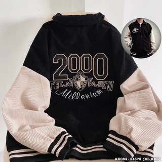 [ Mã FADIRECT20 giảm 20K đơn 150K] Áo Khoác NAM NỮ 084 Khoác Kaki Nhung Thêu 2000 Hàng QC Form Rộng UNISEX thumbnail