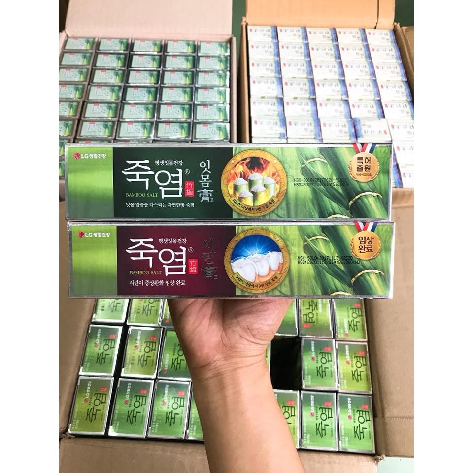 Kem đánh răng MUỐI TRE CAO CẤP chính hãng công ty nhập khẩu Hàn Quốc LG 140g