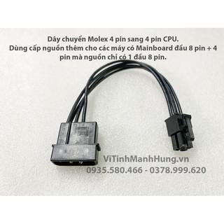 Dây cấp nguồn CPU 4 pin, dây chuyển đầu Molex ATA sang 4 pin CPU, dài 30cm, dây điện chuẩn 18AWG.