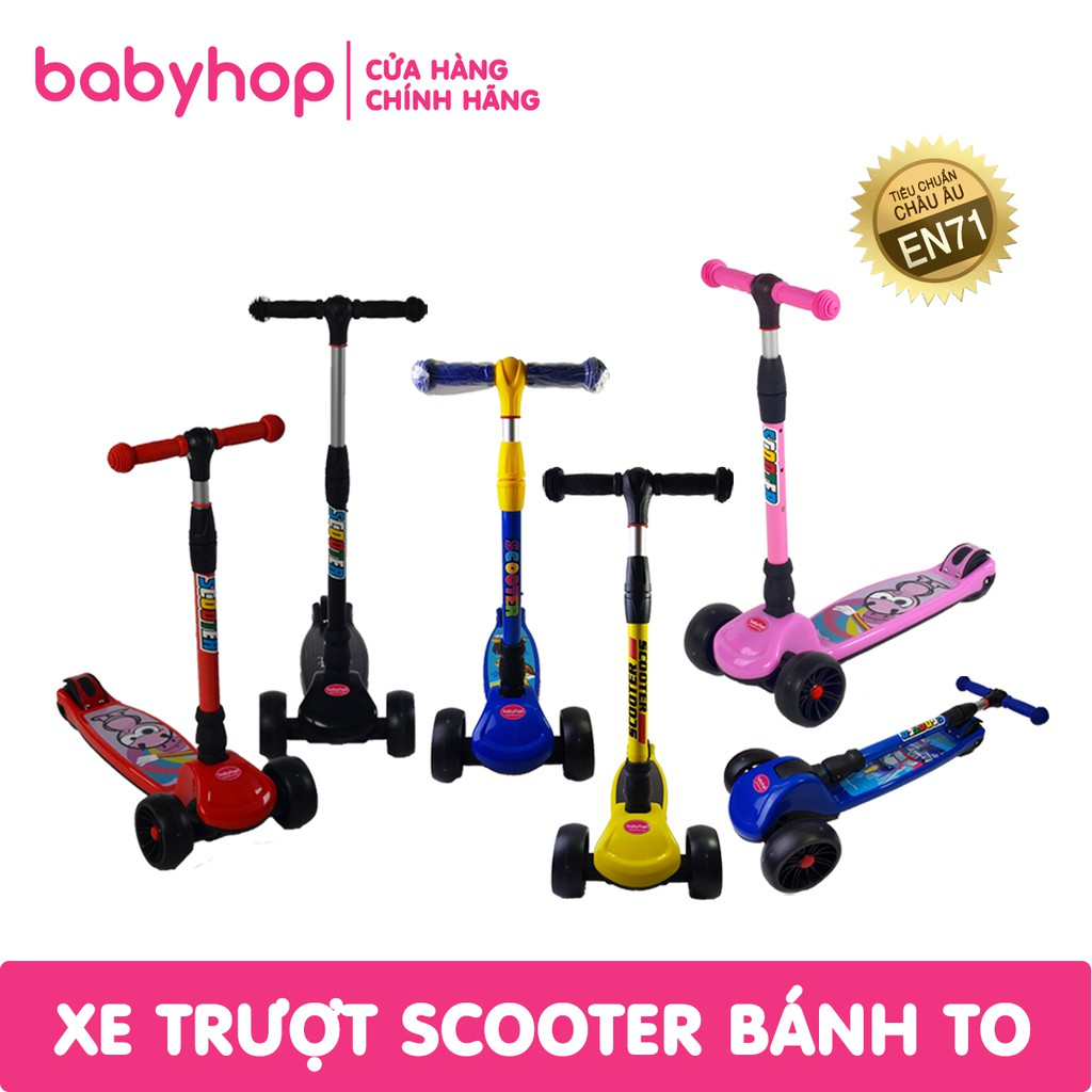 [Nhập MKBBBHOP2 giảm 10%] Xe trượt scooter trẻ em bánh to của babyhop