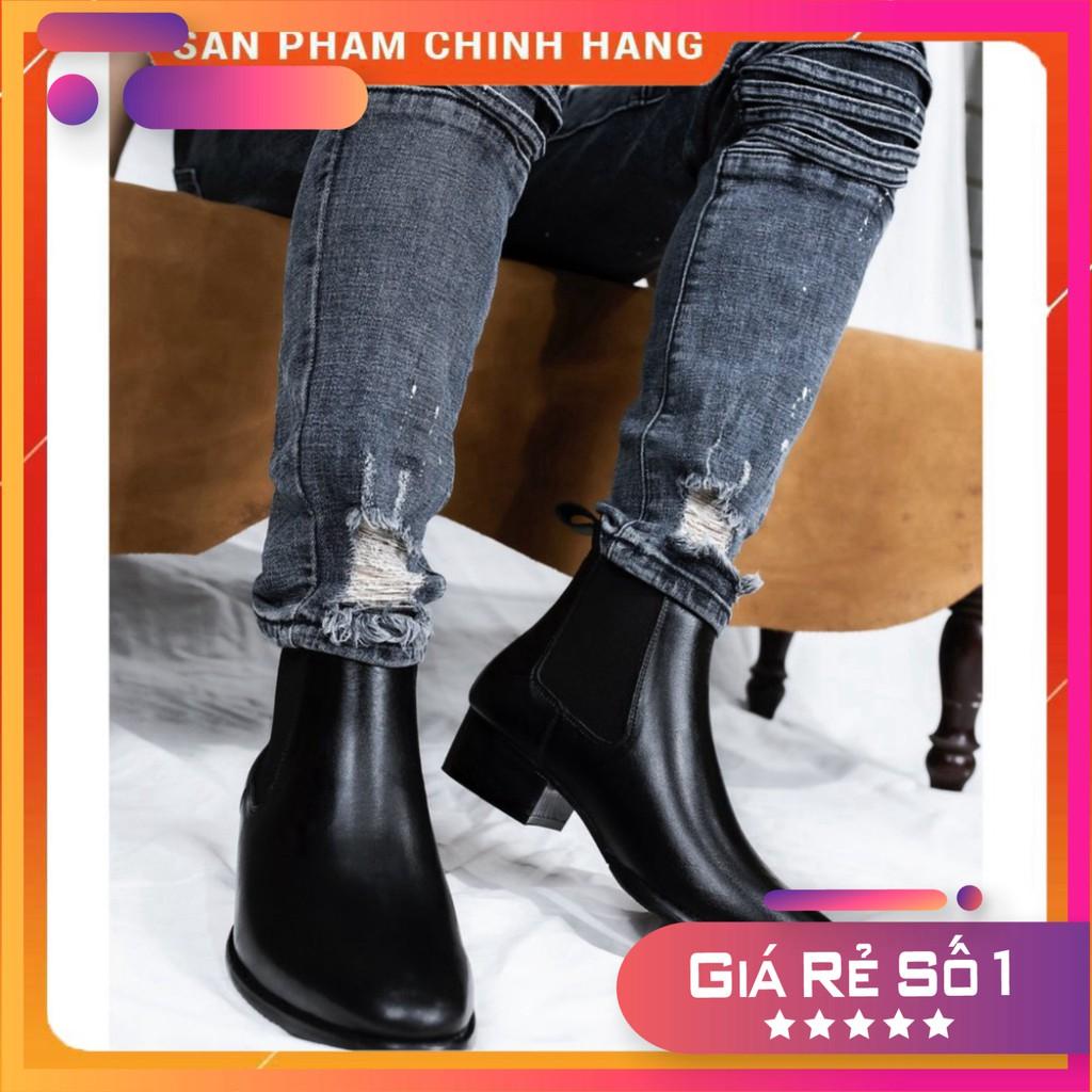 Giày CHELSEA BOOTS ❤️ HT.NEO ❤️ Hàng cao cấp da bò thật 100% hot trend 2021 da mềm lót êm đi cực thoải mái chân(dn25-de)