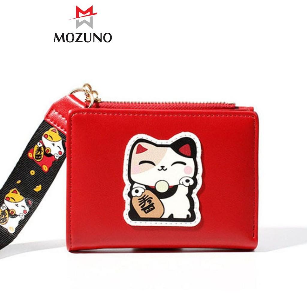 Ví Nữ Mini Đẹp Chính Hãng TAOMICMIC Họa Tiết Mèo Thần Tài Đựng Tiền-Thẻ Cực Xinh Cực Hót TM16 - Mozuno
