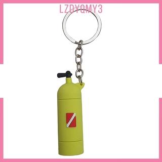 Novelty Mini Diving Tank Key Chain Holder Dive Flag Keyring Keychain Gray